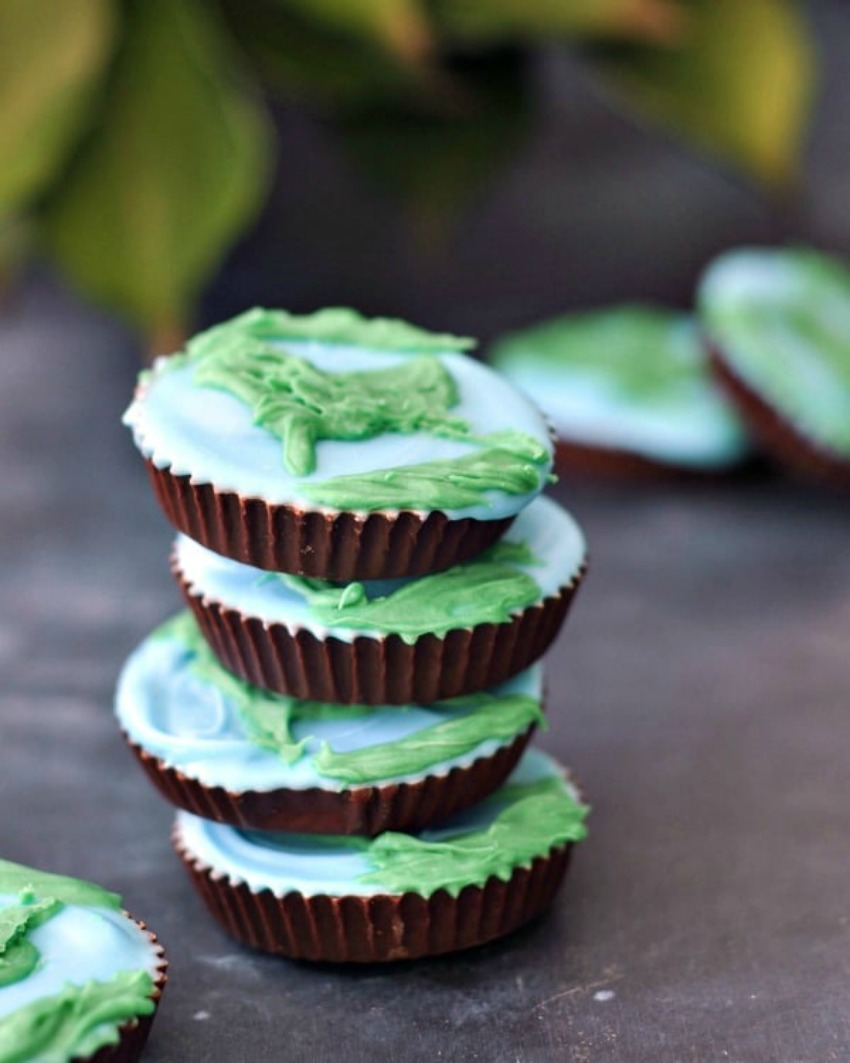 Earth Day Peanut Butter Cups