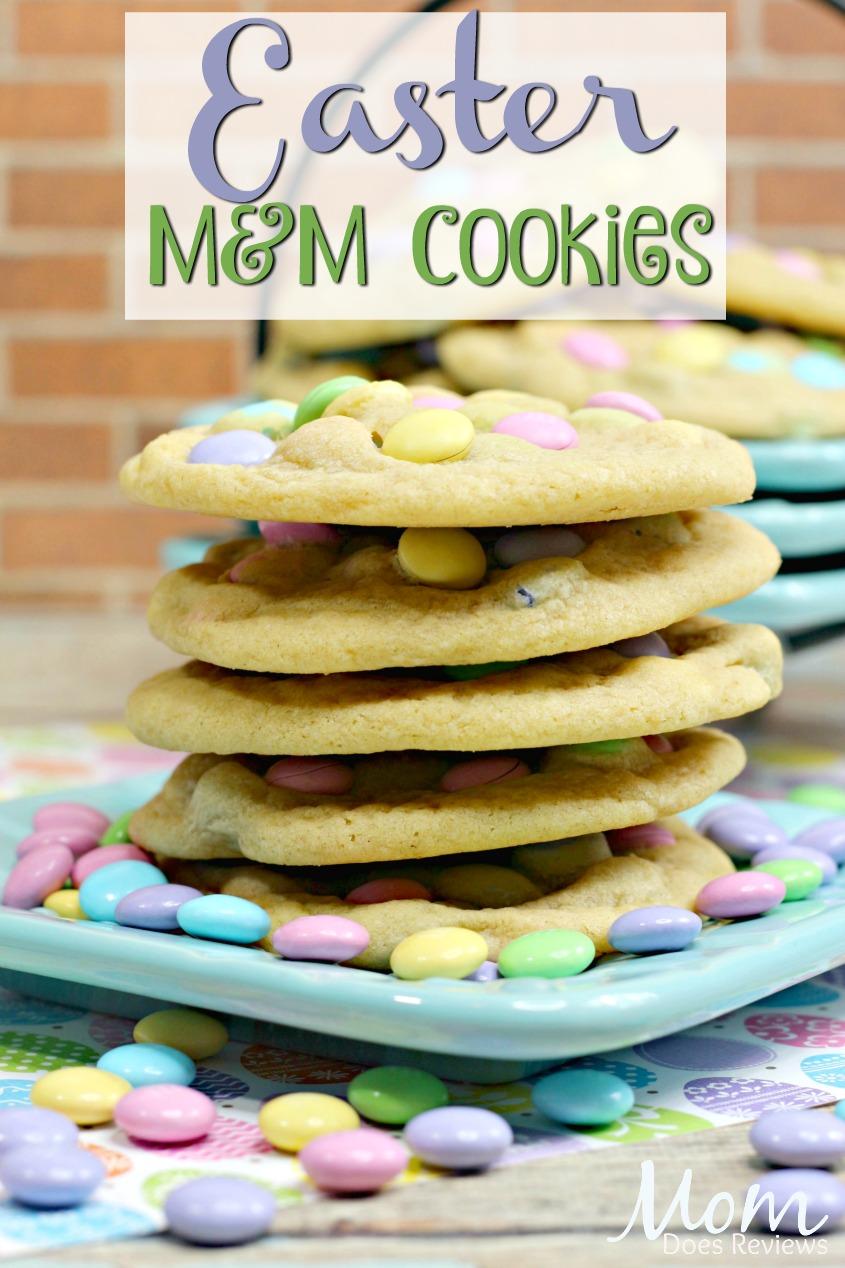 Easter M&M Cookies #SpringFUnonMDR #cookies #desserts #sweets #foodie