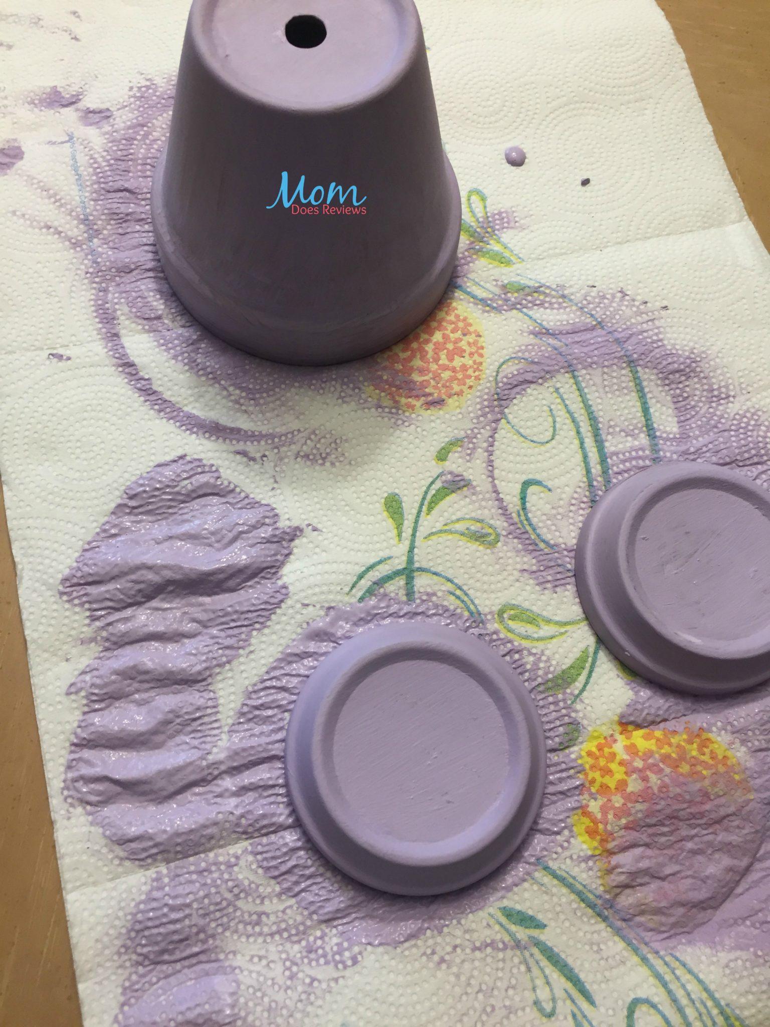 paint pot, and saucers