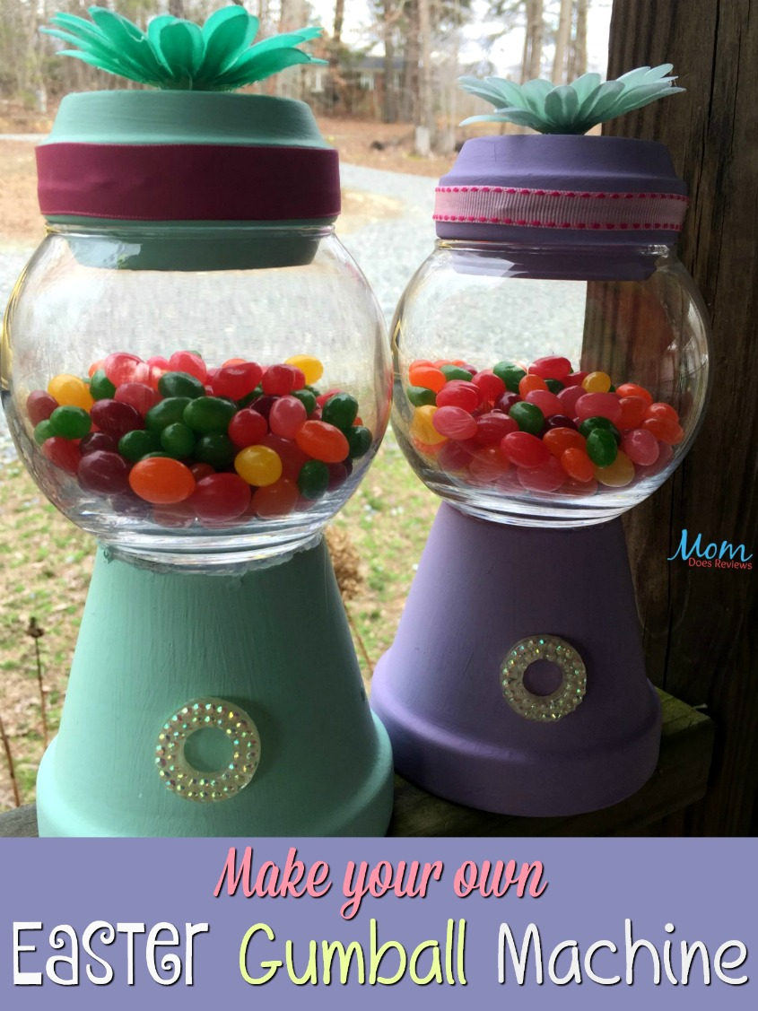 DIY Easter Gumball machine #craft #funstuff #easter #jellybeans