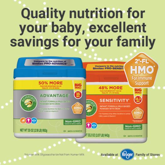 Kroger Comfort Infant formula