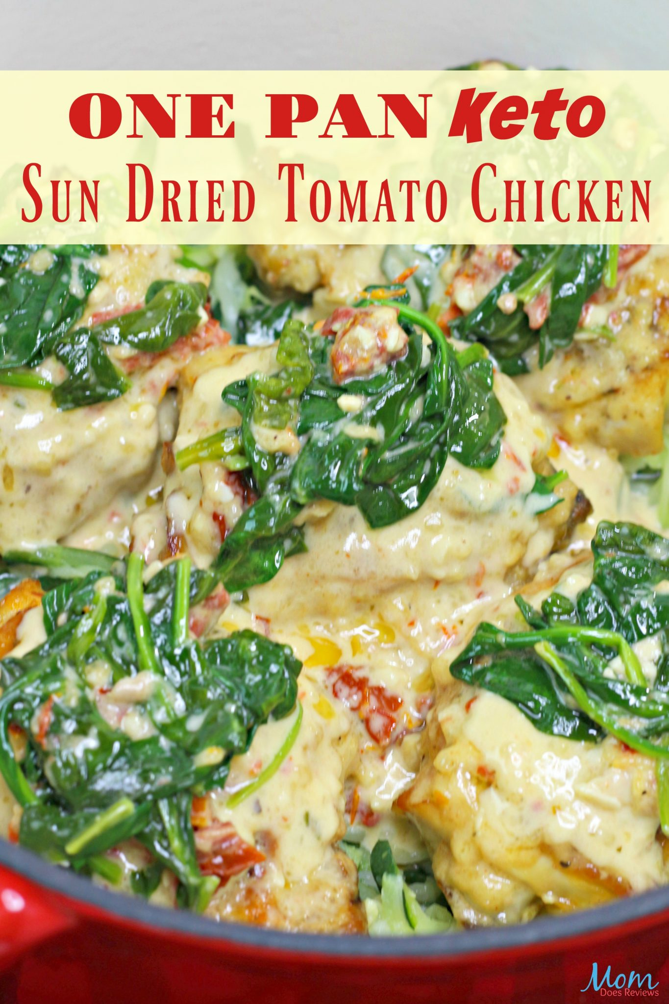 One Pan Keto Sun Dried Tomato Chicken #Recipe #easyrecipe #keto #ketodiet #chicken #getinmybelly #onepanrecipe