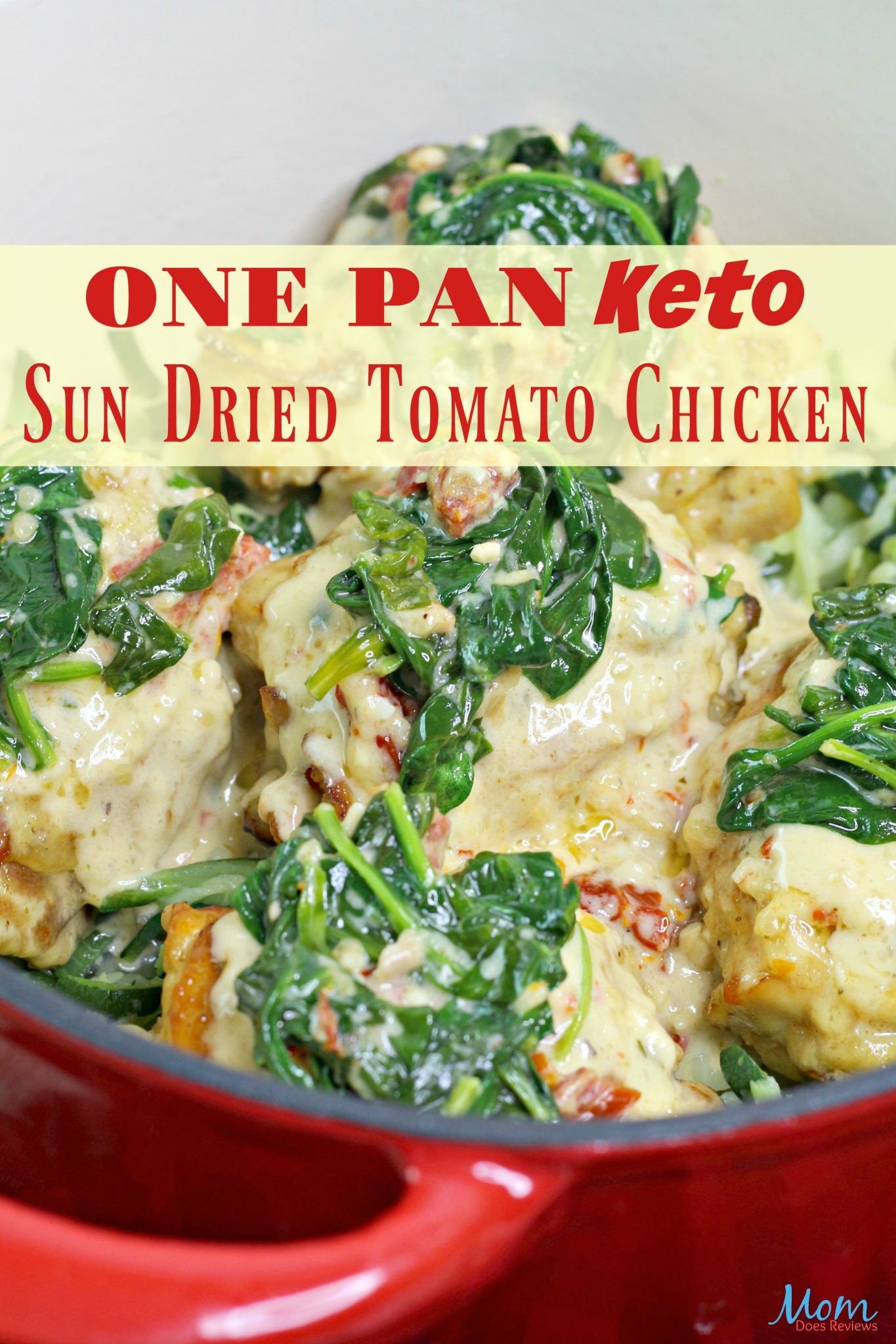 One Pan Keto Sun Dried Tomato Chicken Recipe #easyrecipe #keto #ketodiet #chicken #getinmybelly #onepanrecipe