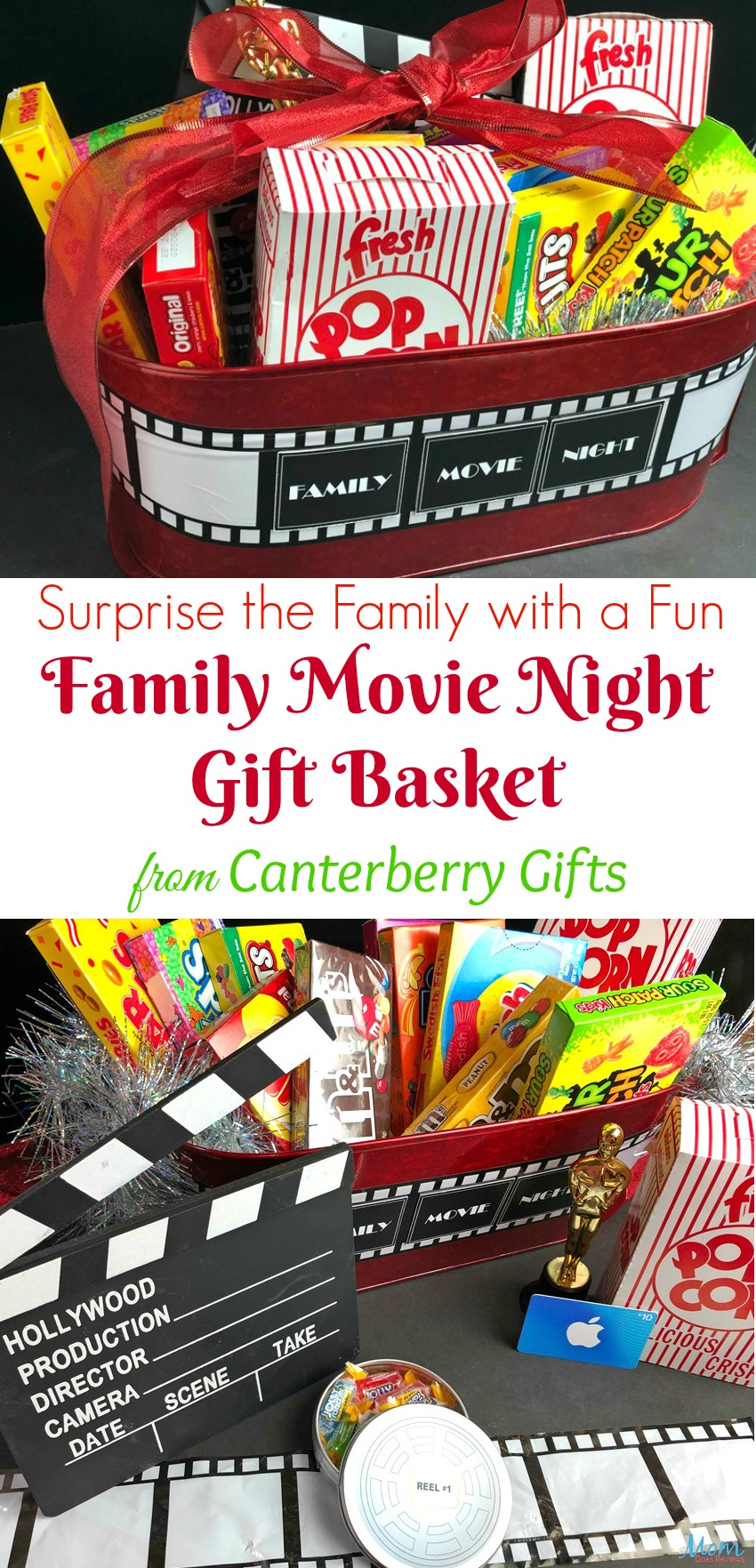 Surprise the Family with a Fun Family Movie Night Gift Basket from Canterberry Gifts #SpringFunonMDR