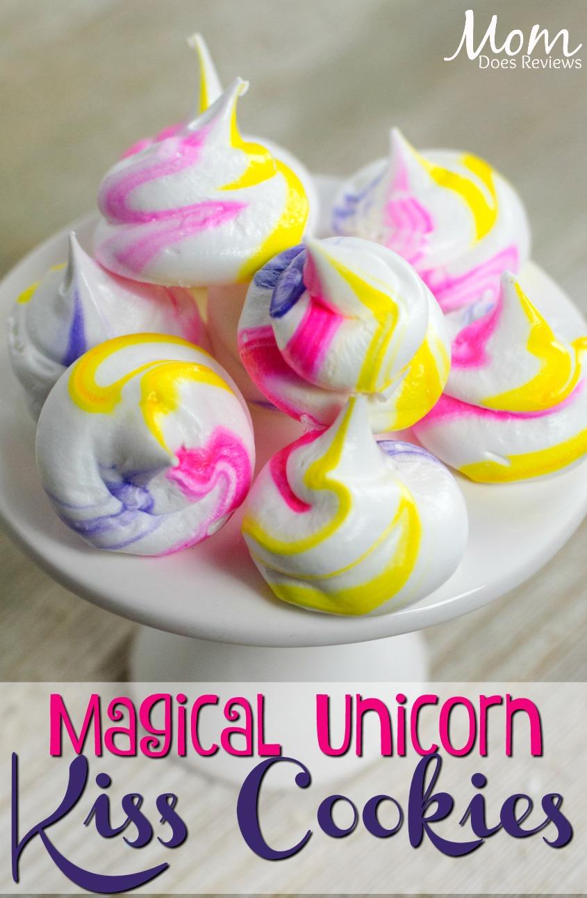 Magical Unicorn Kiss Cookies #desserts #unicorns #magic #funfood #cookies