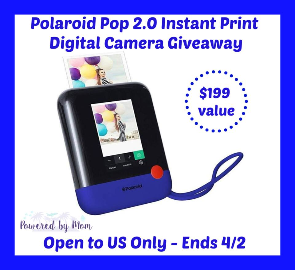#Win a Polaroid Pop 2.0 Instant Print Digital Camera ($200 arv) US only, ends 4/2