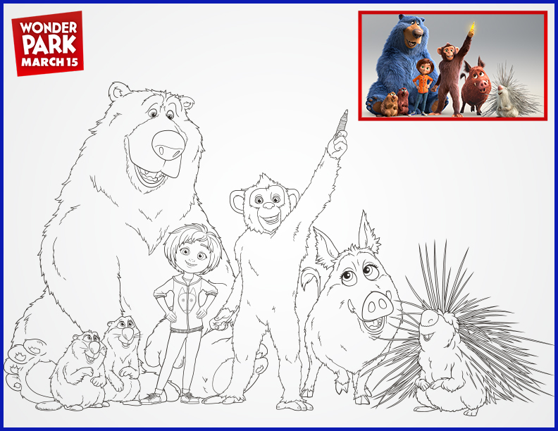 WONDER PARK: Free Coloring Pages and Printable Activities! #WonderPark