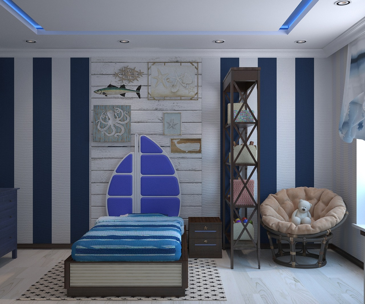 Chic Kids' Bedroom: Keep It Healthy, Safe and Organized