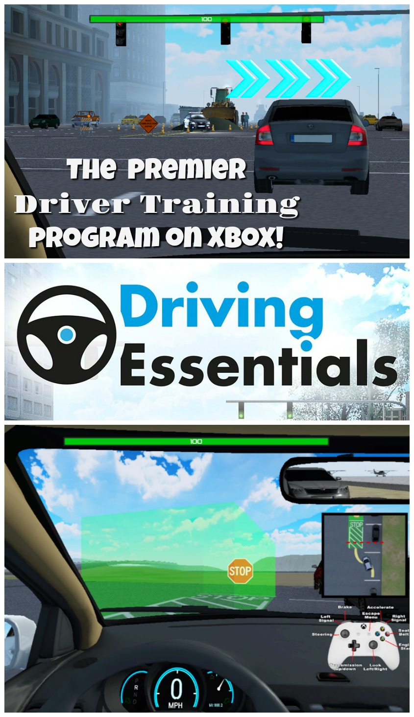 Driving Essentials XE, The Perfect Driver Training Program for Your Teen on Xbox! #driving #teens #parenting #learningtodrive