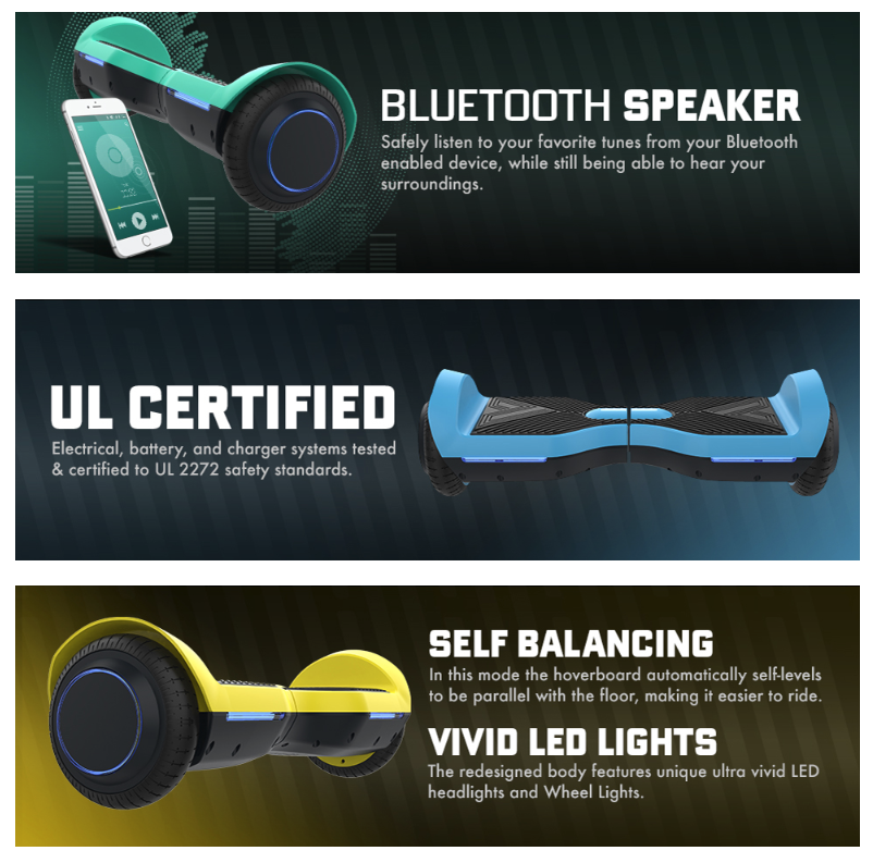 GOTRAX SRX Hoverboard - Self Balancing Hover Board w/Bluetooth Speakers #SpringFunonMDR