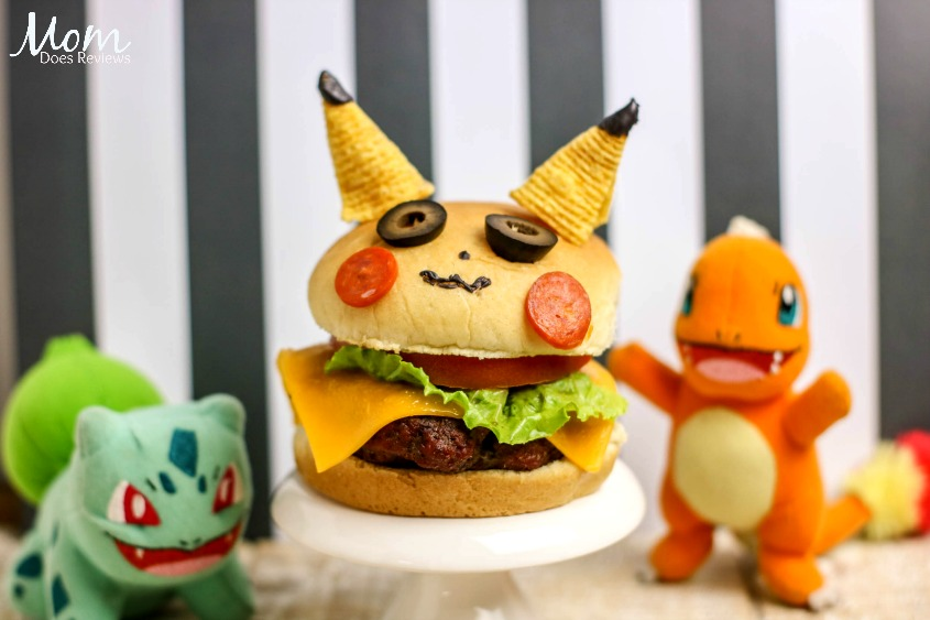 Pikachu Burger- Perfect for Pokemon Fans!