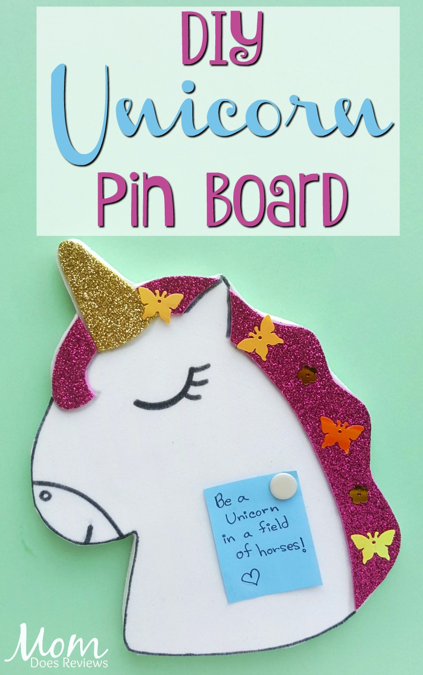 Unicorn Pin Board #DIY #unicorns #craft #funstuff