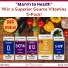 "#Win the ""March to Health"" Superior Source Vitamins 5-Pack ($85 Value)"