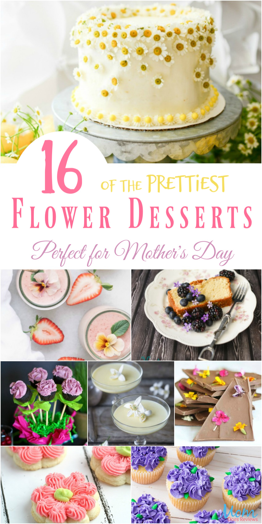 16 of the Prettiest Flower Desserts Perfect for Mother's Day #desserts #recipes #sweets #flowers #mothersday