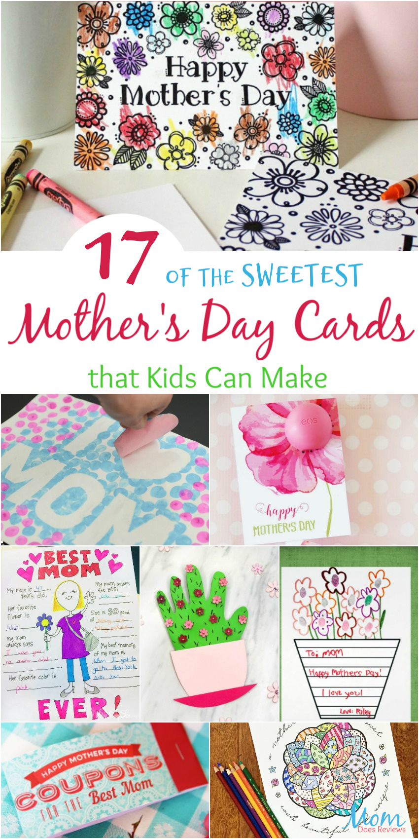 17 of the Sweetest Mother's Day Cards that Kids Can Make #crafts #easycrafts #mothersday #funstuff #DIY