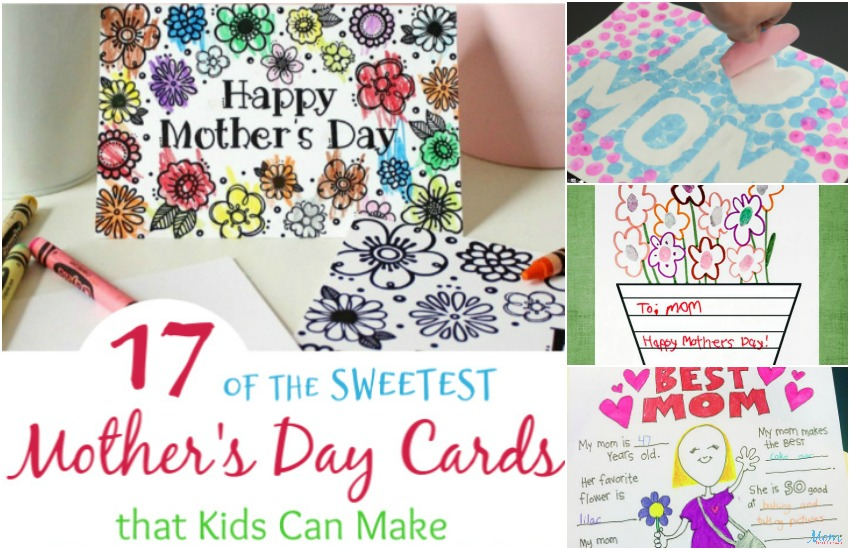 17 of the Sweetest Mother's Day Cards that Kids Can Make