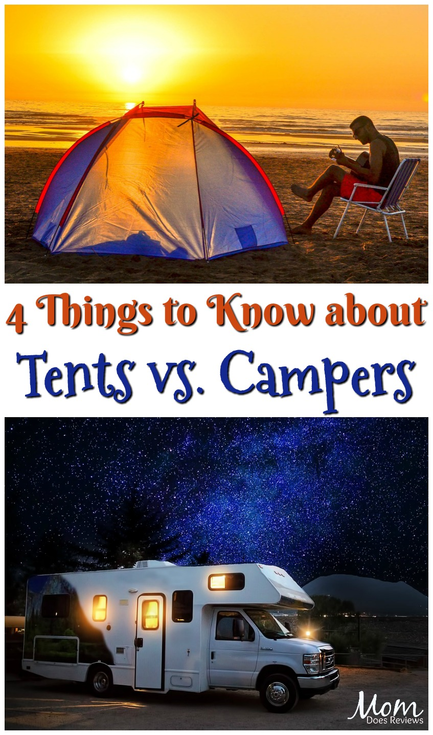 4 Things to Know about Outdoor-Stay Methods Tents vs Campers #travel #camping #tents #campers