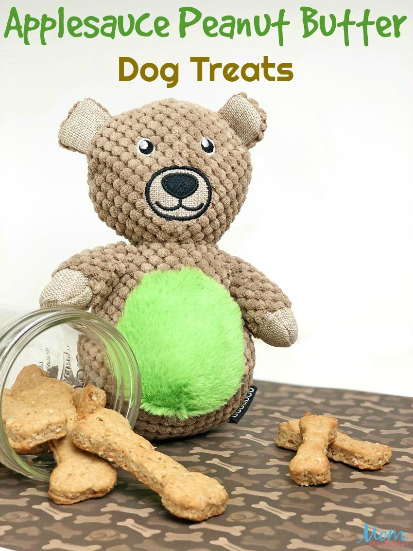 Tasty Applesauce Peanut Butter Dog Treats Your Dog Will Woof for! #dogs #pets #treats #dogtreats #bones #peanutbutter