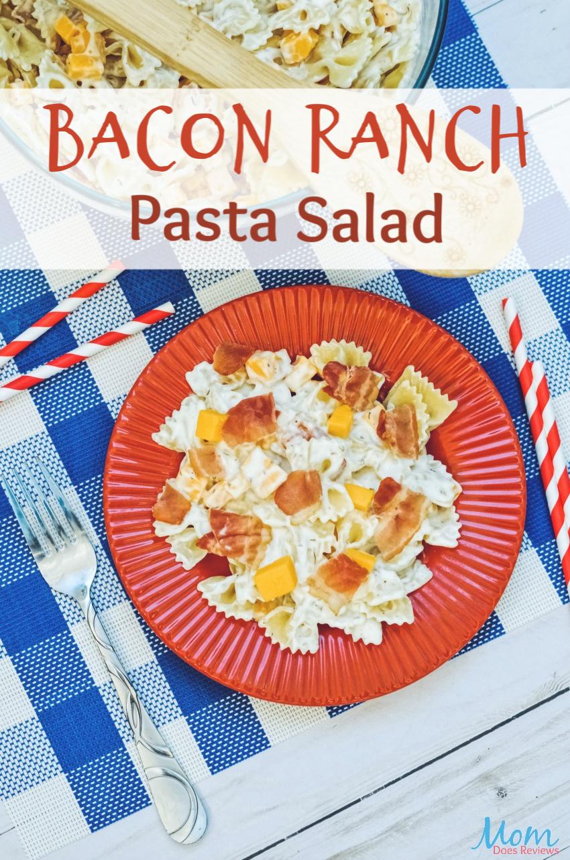 Bacon Ranch Pasta Salad Recipe #food #foodie #salad #pastasalad #bacon #getinmybelly