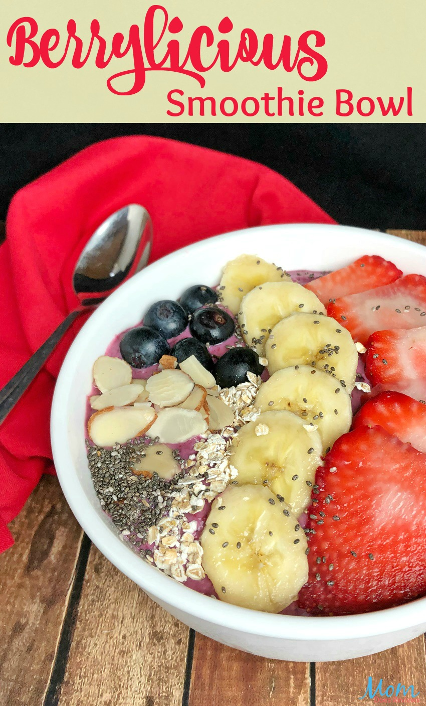 Berrylicious Smoothie Bowl Recipe: Easy, Quick and Satisfying! #recipe #food #foodie #breakfast #getinmybelly #yummy #strawberry #healthyfoods