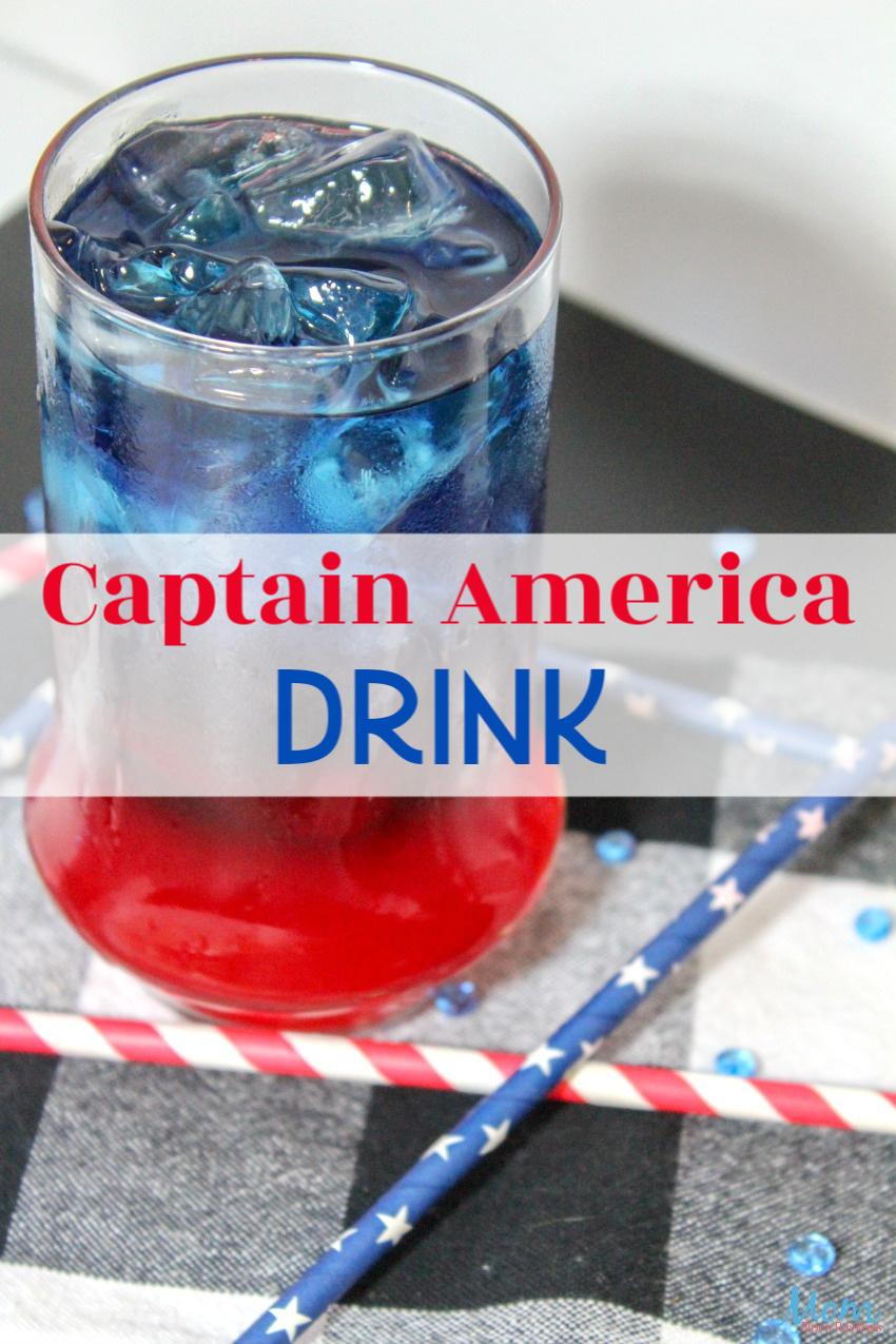 Captain America Drink #recipe #drink #captainamerica #marvel
