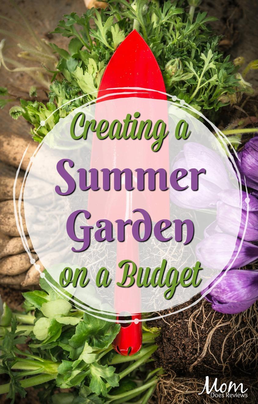 Creating a Summer Garden on a Budget #gardens #gardening #summer #flowers #veggiegarden