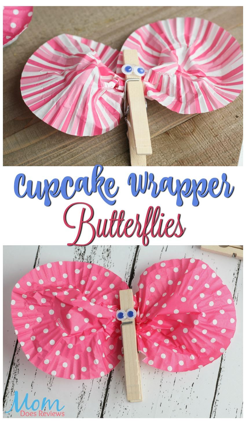 Cupcake Wrapper Butterflies #crafts #spring #butterfly #diy #easycraft