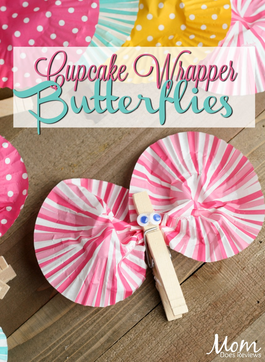Cupcake Wrapper Butterflies #crafts #spring #butterfly #diy #easycraft