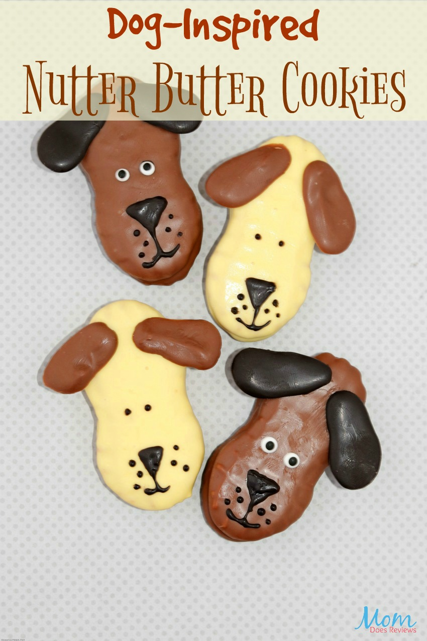 Dog-Inspired Nutter Butter Cookies #recipe #cookies #desserts #funfood  #sweets