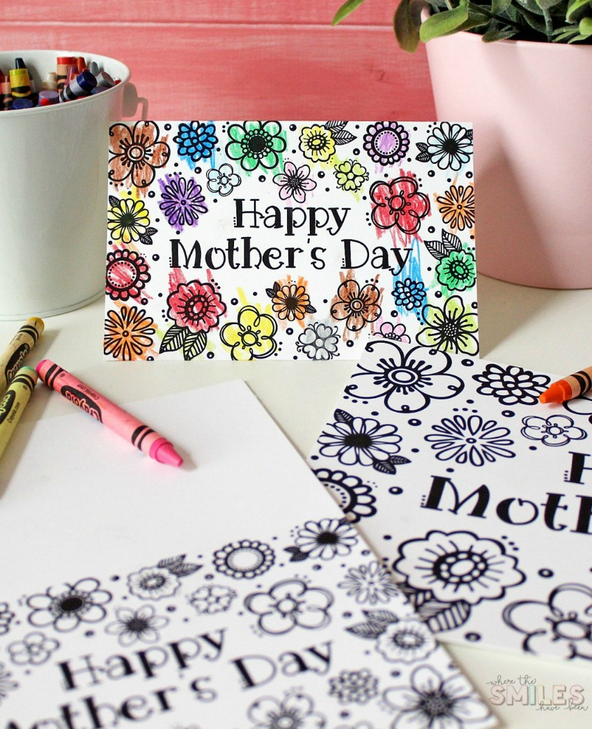 FREE Printable Mother's Day Coloring Page & Card