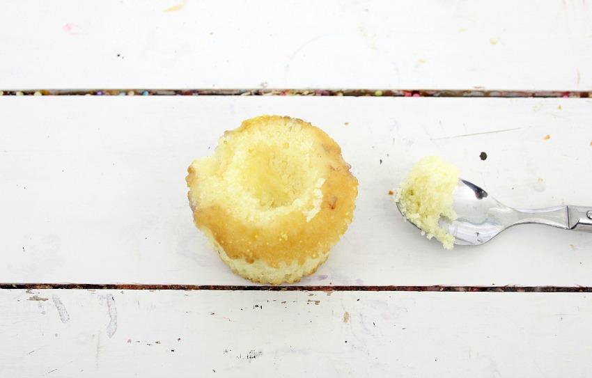 Lemon Blueberry Bakery Style Cupcakes process