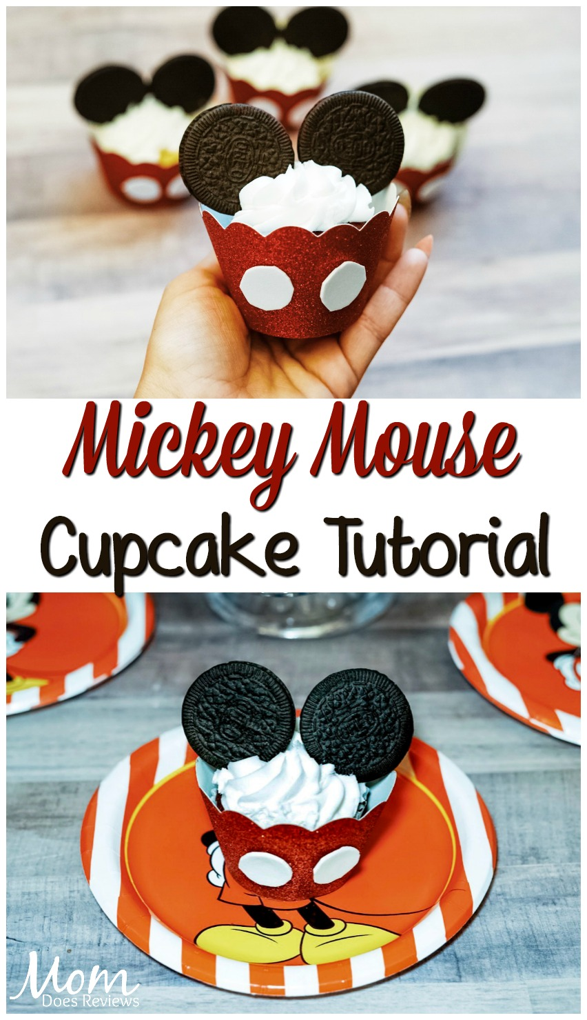 Mickey Mouse Cupcake Tutorial! #disney #cupcakes #food #birthdayparty #mickeymouse #yummy