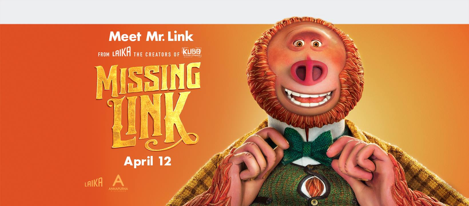 #Win $50 Fandango GC and Missing Link Prize Pack! US, ends 4/17 #MissingLink