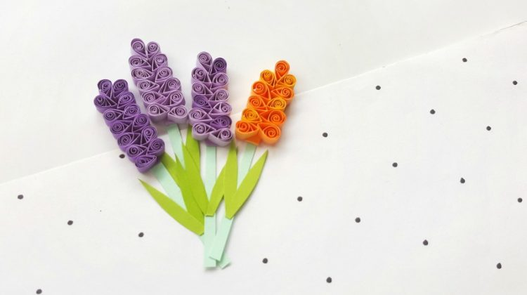 Quilled Hyacinth Flowers: a FUN Paper Quilling Project