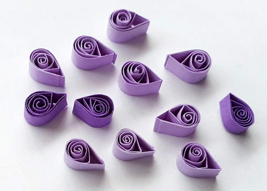 Quilled Hyacinth Flowers process