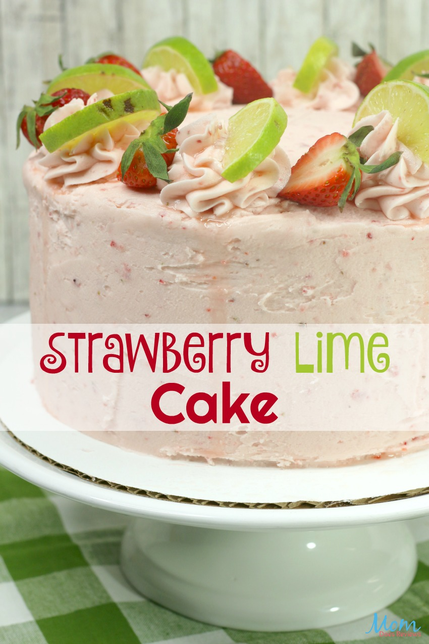 Strawberry Lime Cake Recipe #cake #desserts #sweets #strawberry #lime #getinmybelly #foodie #layercakes