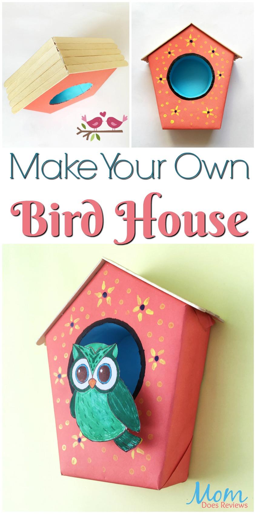 Make your Own Bird House #Craft! #DIY #easycrafts #birdhouse