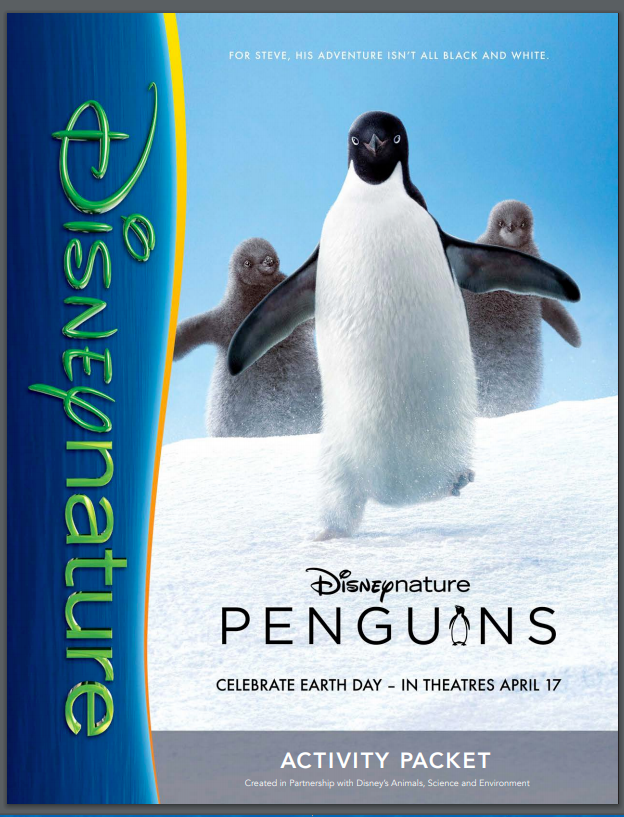 """Penguins"" Opens in Theaters 4/17! and Free #Printables #EarthDay"