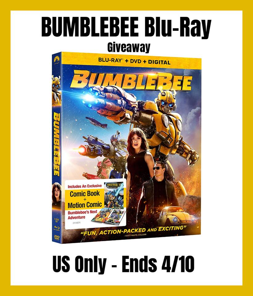Win Bumblebee Transformers Movie on Blu-Ray! US only, ends 4