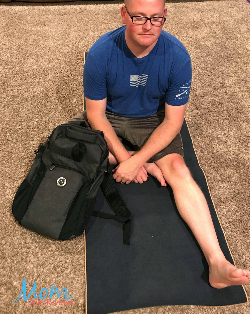 Invite Dad to Join You In Training with a Aurorae Yoga Backpack and Mat