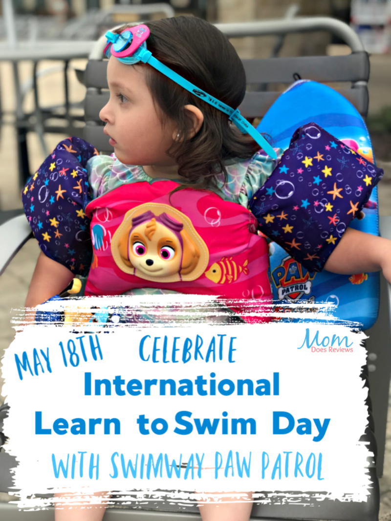 Celebrate International Learn to swim day with swimways paw patrol swimming aids and toys