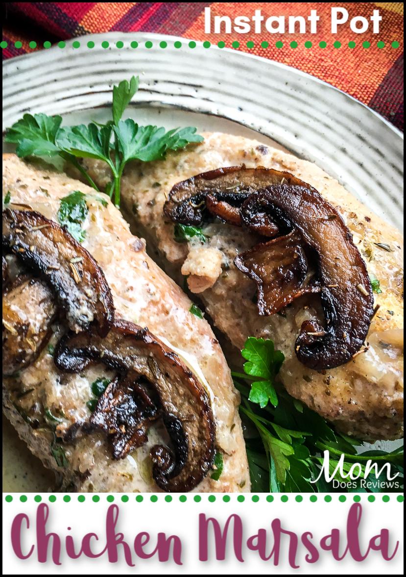 Instant Pot® Chicken Marsala #recipe #instantpot #chicken #food #foodie #yum