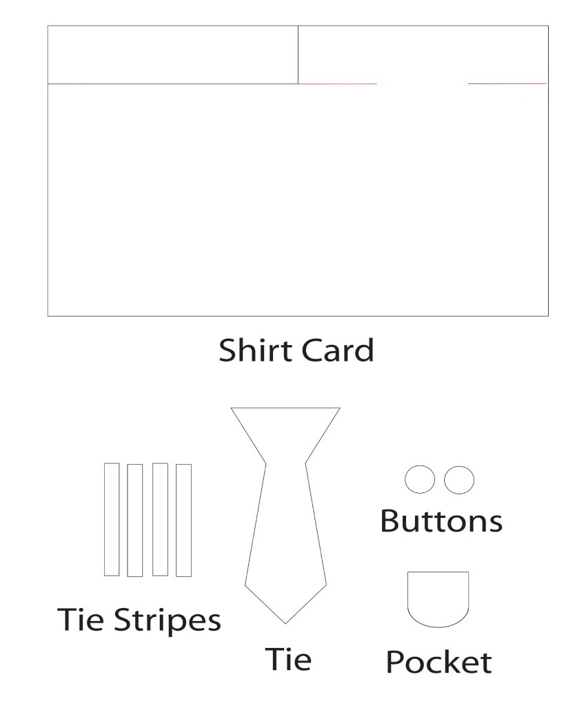 Father's Day Shirt Card Craft template