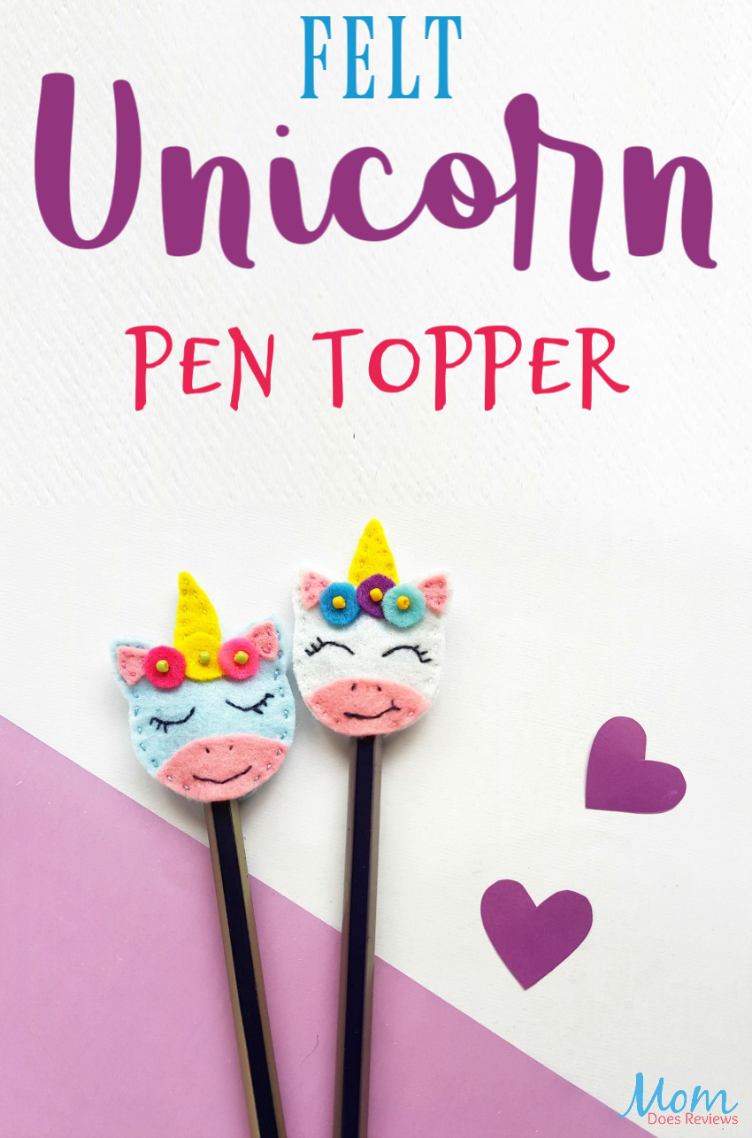 Felt Unicorn Pen Topper #crafts #sewing #diy #unicorns #funstuff