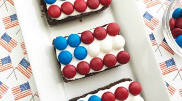 Patriotic Flag Brownies are Fun & Easy for Celebrations