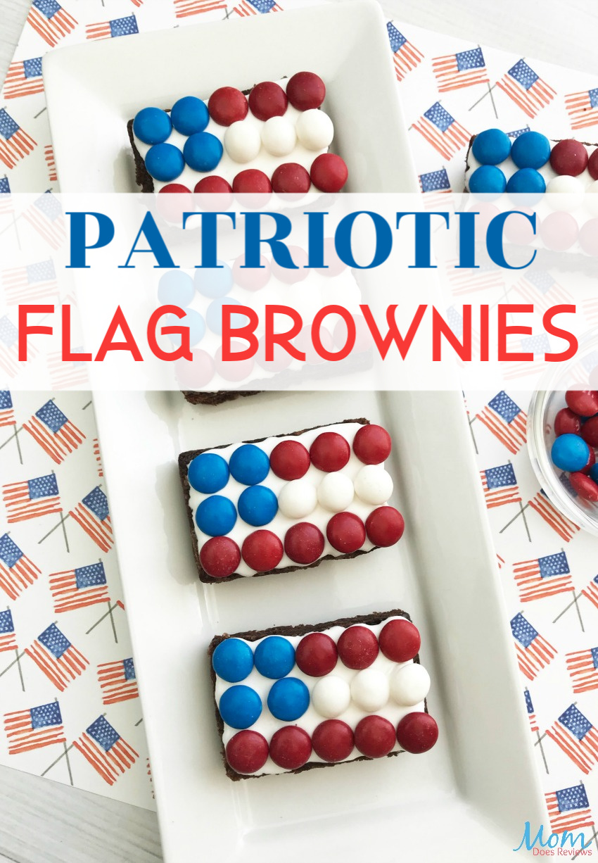 Patriotic Flag Brownies are Fun & Easy for Celebrations #brownies #desserts #foodie #flag #patriotic #4thofjuly