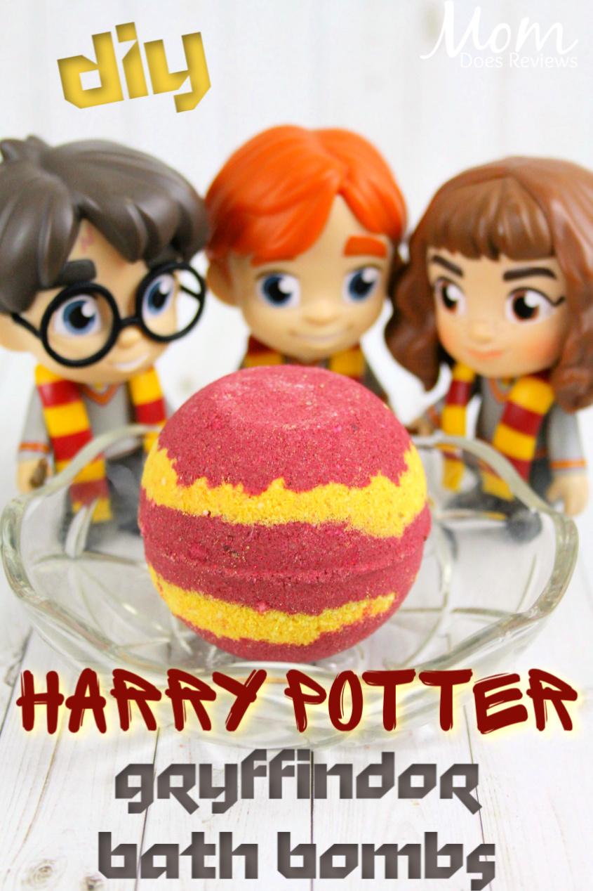Harry Potter Gryffindor Bath Bombs Recipe #bathbombs #diy #harrypotter #funstuff #craft