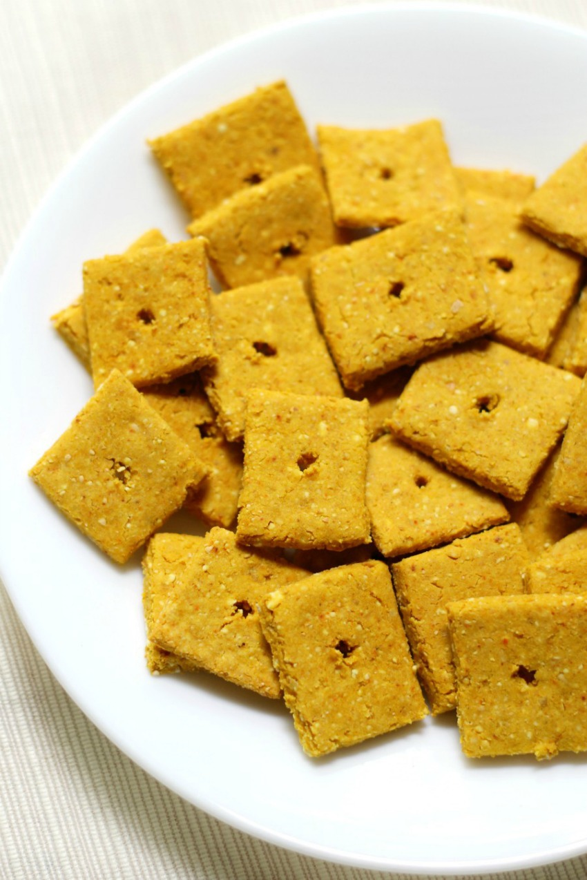 Homemade Gluten-Free + Vegan Cheez-Its
