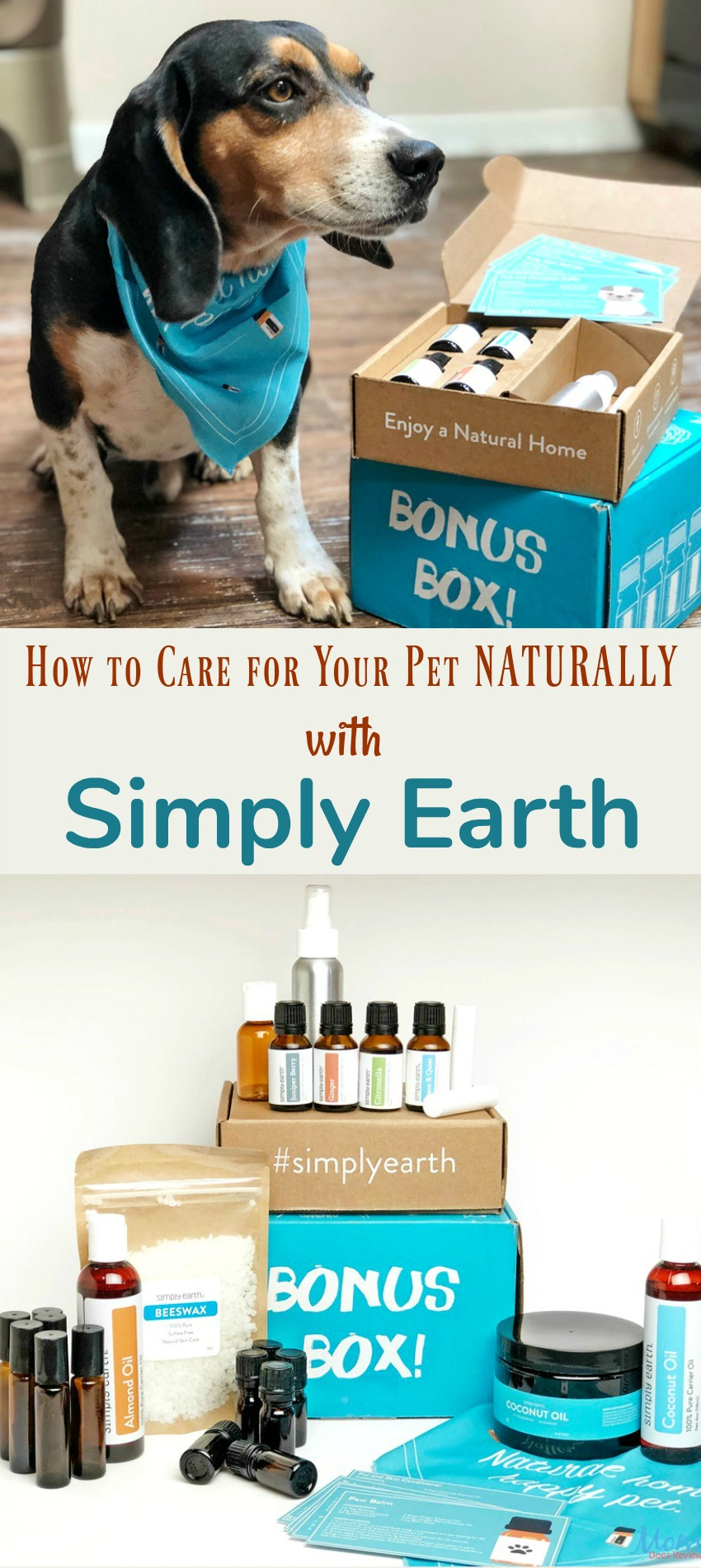 How to Care for Your Pet Naturally with Simply Earth Essential Oils #giftsformom19