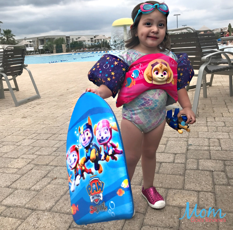 Learn to swim with Swimways PAW Patrol toys, swim training gear